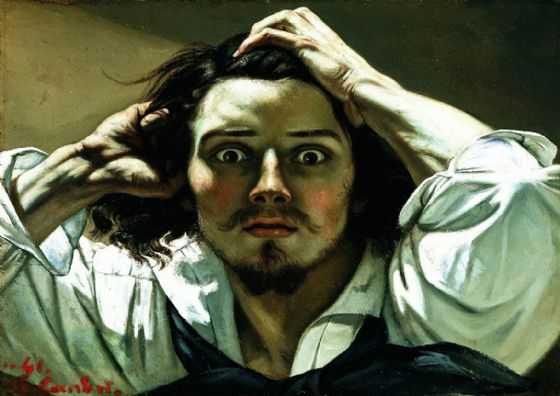 Courbet, Gustave: The Desperate Man. Fine Art Print/Poster. Sizes: A4/A3/A2/A1 (00458)